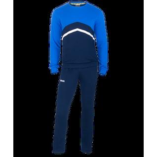 Тренировочный костюм Jögel Jcs- 4201-971, хлопок, темно-синий/синий/белый размер L