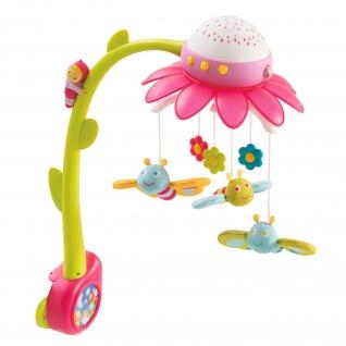 "Музыкальная мобиль на кроватку ""Цветок"" (звук, свет), розовый Smoby"
