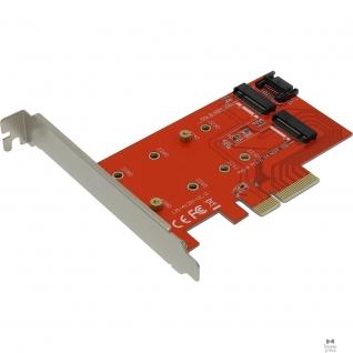 Espada Espada Контроллер PCI-E x4, 2 порта M.2 NGFF (B+M key) (PCIe2NGFF) (42043)