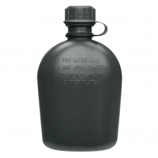 Made in Germany Фляга армии США 1 кв. черного цвета