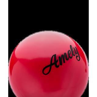 Мяч для художественной гимнастики Amely Agb-101, 15 см, красный