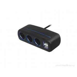 Разветвитель на 3 прикуривателя и 2 USB Neoline SL-321 Neoline
