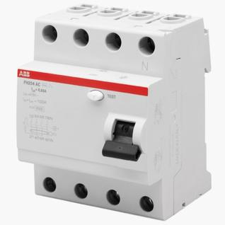 УЗО ABB (FH204 AC-25/0,03) 25А 30мА четырехполюсный выключатель дифференциального тока