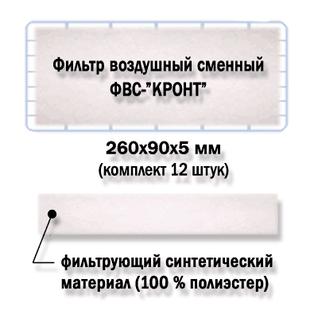 Фильтр воздушный сменный упаковка 12 шт. «КРОНТ-МЕД» ФВС-КРОНТ