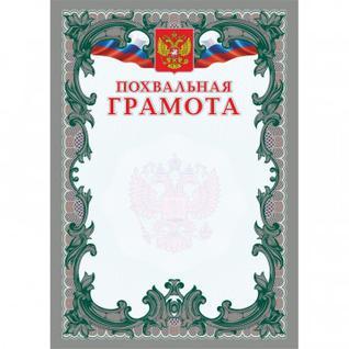 Грамота Похвальная (серебро) (А4, мелованная, пл. 250) КЖ-1195 15шт.уп