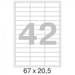 Этикетки самоклеящиеся Promega label 67х20,5 мм / 42 шт. на листе А4 (100л.