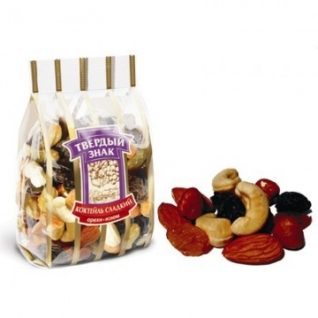 Коктейль сладкий орехи-изюм 250 гр. . Твердый з