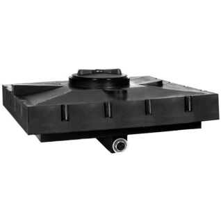 Бак д/душа Aquatech 120 литров (черный) 950х950х305