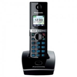Радиотелефон Panasonic KX-TG8051RUB чёрный,АОН,ЖК цвет.дисплей