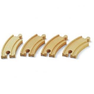 Набор закругленных полотен для деревянной ж/д, 4 детали Brio