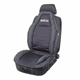 Накидка на сиденье анатомическая SPARCO Racing Style SPC/CUS-020 BK (спорт. дизайн, экокожа+полиэстер, чёрная) Sparco