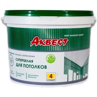Краска для потолков акриловая АКВЕСТ-4 Стандарт 7 кг.