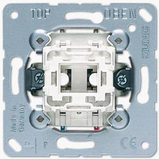 Механизм выключателя Jung 533U одноклавишный 10А кнопка без фиксации с переключающим контактом