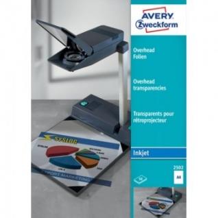 Пленка для проекторов Avery Zweckform Z2502 д/струй.прин.,50шт./уп.