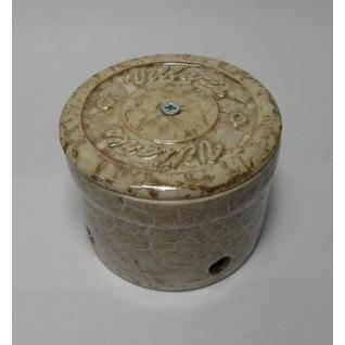 Распределительная коробка керамическая D70 H40 (мрамор) NEW