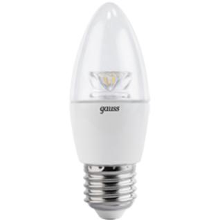Gauss Лампа Gauss LED Candle Crystal Clear E27 4W 2700К 1/10/50