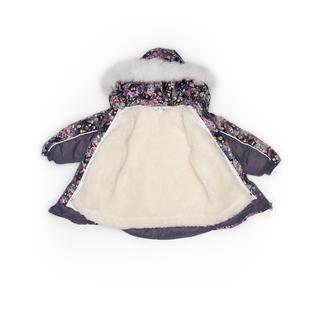 Комплект MalekBaby (Куртка + Полукомбинезон), С опушкой, №284/1 (Совы с конфетами+серый) арт.409ШМ/2