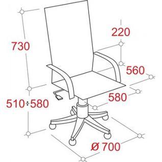 Кресло BN_Dp_Руководителя EChair-535 MPU к/з черный, хром