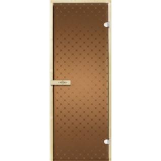 Дверь для бани ЗВЕЗДА 7х19, бронза матовое