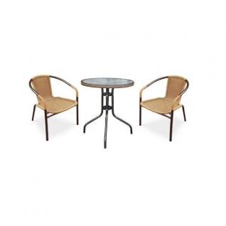 Набор мебели Асоль-1С (иск. ротанг) пшеничный