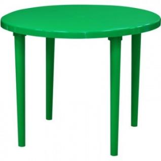Стол пластиковый SPG_круглый D90, зеленый