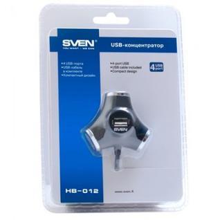 Разветвитель USB SVEN HB-012/4xUSB 2.0/black