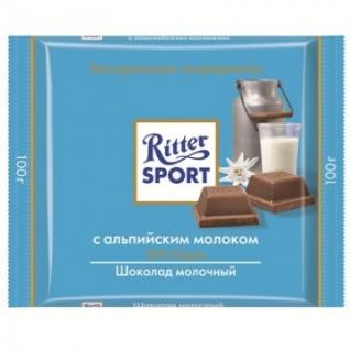 Шоколад Ritter Sport молочный с альпийским молоком 100г