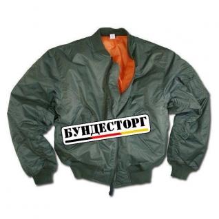 Куртка в стиле пилота MA-1, цвет оливковый