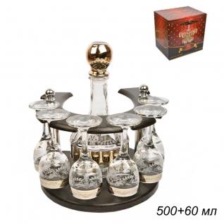 БАР-ПОДКОВА набор для напитков 7 предметов Барокко / 01/134 ГН /уп1/ графин+6 рюмок