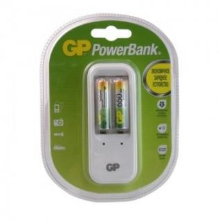 Зарядное устройство GP PB410GS65 2 слота в компл. 2 акк. 650mAh