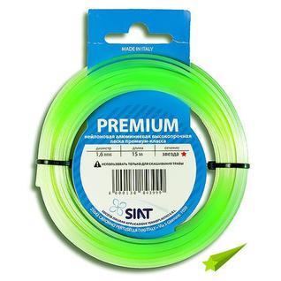 Леска для триммера 1.6 мм Звезда алюминиум (15 м) Premium SIAT (Италия) [555001]