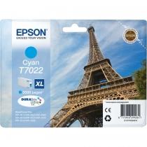 Оригинальный картридж T70224010 для Epson WP4000, WP4500 голубой, струйный 8305-01