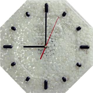 Часы настенные, D-29 см Наполнитель Мрамор белый