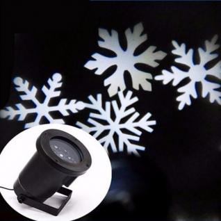 Новогодний проектор Белые снежинки универсальный