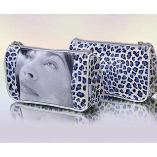 Косметичка леопардовая DEFIPARIS синяя
