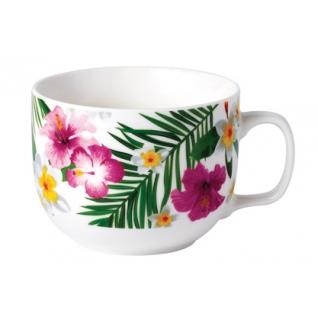 Бульонница фарфоровая Тропические цветы 450 мл