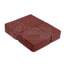 Плитка тротуарная Старый город красная 60 мм (Каменный век)