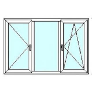 TEPLOWIN Трехстворчатое окно Darrio Гост 100 с двумя створками