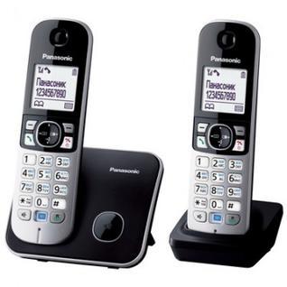 Радиотелефон Panasonic KX-TG6812RUB чёрно-серый,доп.трубка