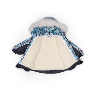 Комплект MalekBaby (Куртка + Полукомбинезон), С опушкой, №331/1 (Совы+черный) арт.409ШМ/2