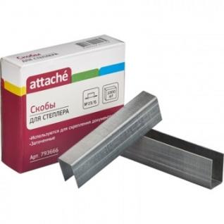 Скобы для степлера N23/6 Attache, оцинкованные 1000 шт в упаковке
