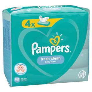 Салфетки влажные детские PAMPERS Fresh Clean 208шт