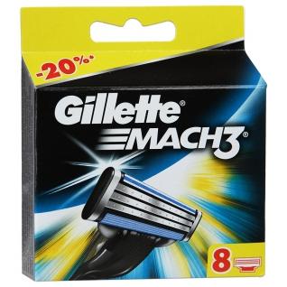 Gillette MACH 3  8 шт