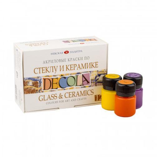 Набор акриловых  красок по стеклу и керамике Decola 12х20 мл, 10665 37857765