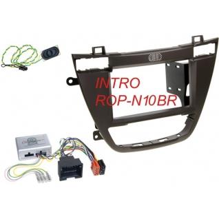Переходная рамка Intro ROP-N10BR для Opel Insignia 2008+ 2DIN Brown (крепеж) Intro