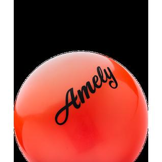 Мяч для художественной гимнастики Amely Agb-101 19 см, оранжевый