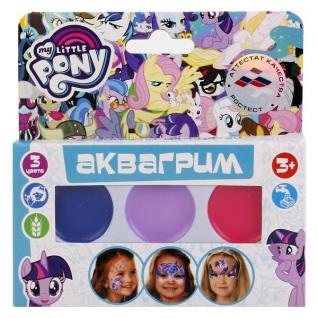 Аквагрим Multiart My Little Pony Палетка С 3 Красками Масл. Осн.+ Кисточка В Русс.
