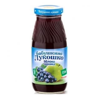"""Сок """"Бабушкино Лукошко"""" - Яблочно-черничный (с 5 мес.), 0.2 л Бабушкино лукошко"""