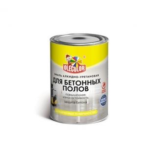 Эмаль для бетонных полов алкидно-уретановая OLECOLOR 2.7кг