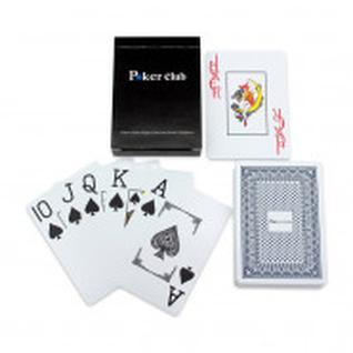 Карты игральные пластиковые Покер (54 шт.) синяя рубашка ИН-9130